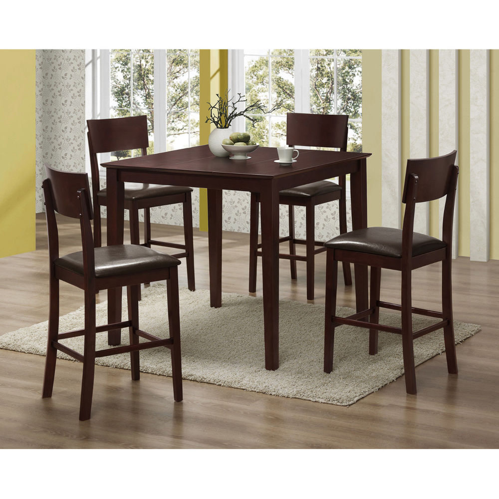 Cheap Dinette Sets Free Shipping: New Counter Height 5pc Dining Table! Includes Table With 4